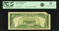 Error Notes:Foldovers, Fr. 1650 $5 1934 Silver Certificate. PCGS Fine 15.. ...