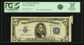 Error Notes:Attached Tabs, Fr. 1651 $5 1934A Silver Certificate. PCGS Very Fine 25 Apparent.....