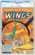 Golden Age (1938-1955):War, Wings Comics #19 (Fiction House, 1942) CGC VF/NM 9.0 Whitepages....