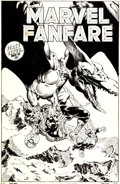 Original Comic Art:Covers, Michael Golden Marvel Fanfare #1 Spider-Man and the AngelCover Original Art (Marvel, 1982)....