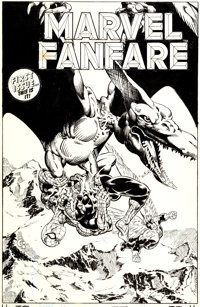 Michael Golden Marvel Fanfare #1 Spider-Man and the Angel Cover Original Art (Marvel, 1982)