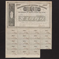 Confederate Notes:Group Lots, Ball 280 Cr. 138 $1000 Bond 1863 Fine. . ...