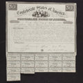 Confederate Notes:Group Lots, Ball 1 Cr. 5A $50 1861 Bond Fine. . ...