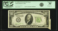 Error Notes:Attached Tabs, Fr. 2005-H $10 1934 Dark Green Seal Federal Reserve Note. PCGS VeryFine 30.. ...