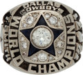 Football Collectibles:Others, 1971-72 Dallas Cowboys Super Bowl VI Championship Ring Presented to Defensive End Tody Smith....