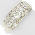 Estate Jewelry:Rings, Antique Diamond, White Gold Ring. ...