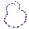 Estate Jewelry:Necklaces, Amethyst, Rock Crystal Quartz, Sterling Silver Necklace. ...