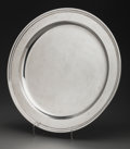 Silver Holloware, American:Plates, A Large Tiffany & Co. Round Silver Charger, New York, New York,circa 1947-1956. Marks: TIFFANY & CO, MAKERS STERLINGSILV...