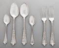 Silver Flatware, American:Tiffany, A Group of Six Tiffany & Co. Persian Pattern Silver Forks and Spoons, New York, New York, designed 1872. Marks: ... (Total: 6 Items)
