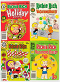 Modern Age (1980-Present):Humor, Richie Rich Vacations Digest Plus File Copy Long Box Group (Harvey,1980s) Condition: Average NM-....