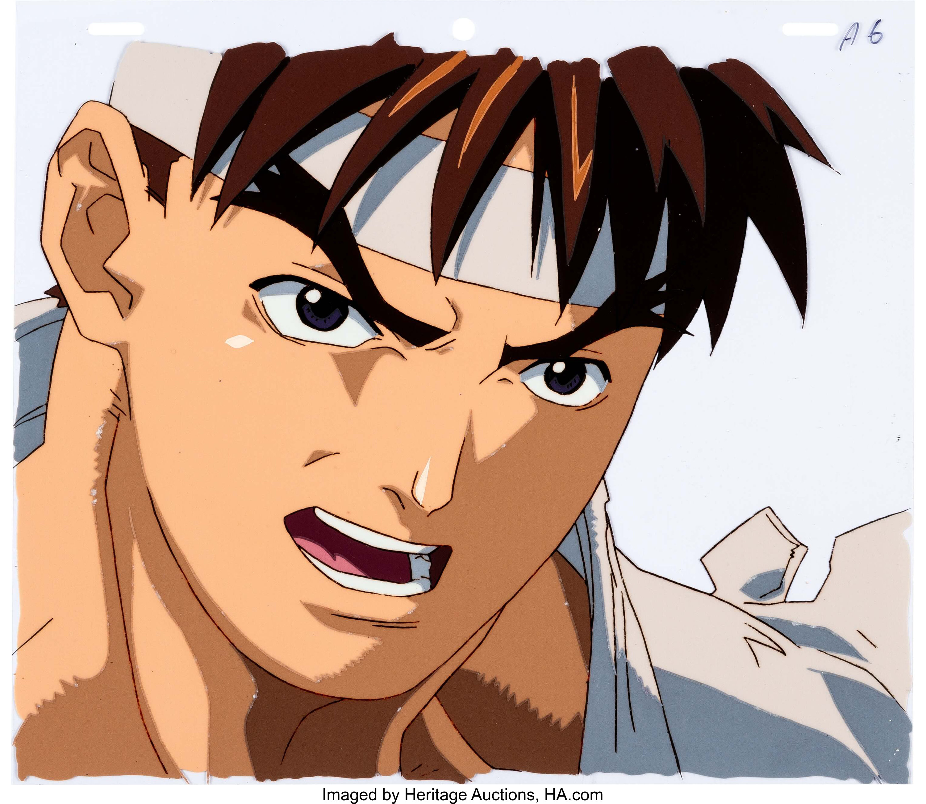 Street Fighter Zero Ryu Anime Production Cel And Matching Animation Lot 14145 Heritage Auctions