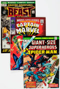 Bronze Age (1970-1979):Superhero, Marvel Bronze Age Long Boxes Group (Marvel, late 1960s-early 1980s)Condition: Average FN.... (Total: 2 Items)
