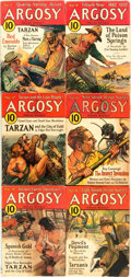 Books:Pulps, [Pulps]. Edgar Rice Burroughs. Earliest Publication of Tarzan and the City of Gold. Complete six part serializat...
