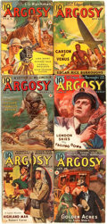 Books:Pulps, [Pulps]. Edgar Rice Burroughs. Earliest Publication of Carson ofVenus. Complete six part serialization original...