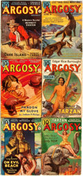 Books:Pulps, [Pulps]. Edgar Rice Burroughs. Earliest Publication of The Red Star of Tarzan aka Tarzan and the Forbidden C...