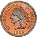 Proof Indian Cents, 1890 1C PR65+ Red and Brown PCGS. CAC....