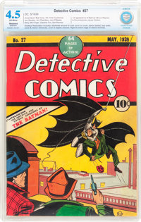 Detective Comics #27 (DC, 1939) CBCS Restored VG+ 4.5 Extensive Amateur Off-white pages