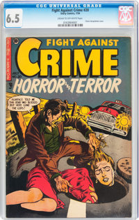 Fight Against Crime #20 (Story Comics, 1954) CGC FN+ 6.5 Cream to off-white pages
