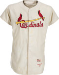 Baseball Collectibles:Uniforms, 1957 Stan Musial Game Worn St. Louis Cardinals Jersey, MEARS A8....