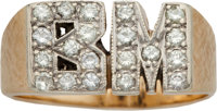 """1970'S Bobby Murcer """"B.M."""" Gold Ring from The Bobby Murcer Collection"""