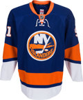 Hockey Collectibles:Uniforms, 2010-11 John Tavares Game Worn New York Islanders Jersey, MEARSA10....