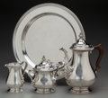 Silver Holloware, American:Coffee Pots, A Four Piece Gorham Silver Coffee Set, Providence, Rhode Island,circa 1946. Marks: GORHAM, (lion-anchor-G), STERLING,...(Total: 4 Items)