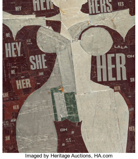 Al Hansen (1927-1995) Untitled, circa 1990 Hershey wrappers and foil on wood 13 x 11-1/8 inches (33 x 28.3 cm) PRO...