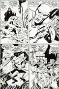 Original Comic Art:Panel Pages, John Buscema and Sal Buscema Silver Surfer #7 Story Page 23Original Art (Marvel, 1969)....