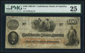 Confederate Notes:1862 Issues, T41 $100 1862 PF-13 Cr. 321A.. ...
