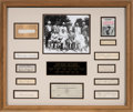 Baseball Collectibles:Others, 1939 Hall of Fame First Class Signed Display. ...