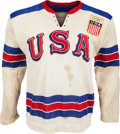 Hockey Collectibles:Uniforms, 1964 Bill Christian Game Worn USA Olympic Hockey Team Jersey....