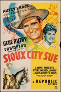 "Movie Posters:Western, Sioux City Sue (Republic, 1946). One Sheet (27"" X 41""). Western.. ..."