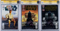 Modern Age (1980-Present):Science Fiction, Star Wars #1 CGC-Graded Group of 3 Signature Series (Marvel, 2015)CGC NM/MT 9.8 White pages.... (Total: 3 Comic Books)