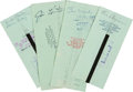 Baseball Collectibles:Others, 1976 New York Yankees Signed (Endorsed) Payroll Checks Lot of36....
