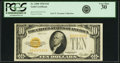 Small Size:Gold Certificates, Fr. 2400 $10 1928 Gold Certificate. PCGS Very Fine 30.. ...