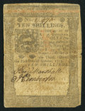 Colonial Notes:Pennsylvania, Pennsylvania October 1, 1773 10s Fine-Very Fine.. ...