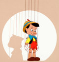 Animation Art:Seriograph, Pinocchio on Stage Sericel (Walt Disney, 1993)....