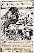 Original Comic Art:Splash Pages, Norman Nodel Classics Illustrated Special Issue #147A -Crossing the Rockies Splash Page 1 Original Ar...