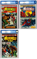 Bronze Age (1970-1979):Horror, Werewolf by Night #4, 9, and 10 CGC-Graded Group (Marvel, 1973)....(Total: 3 Comic Books)