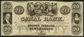 Obsoletes By State:Louisiana, Inverted Back, New Orleans, LA-New Orleans Canal & Banking Co. $20 18__ Remainder. ...