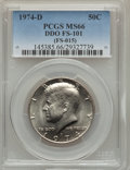Kennedy Half Dollars, 1974-D 50C Doubled Die Obverse , FS-101 MS66 PCGS. (FS-015). PCGSPopulation (1/0). ...