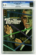 Silver Age (1956-1969):Mystery, Boris Karloff Thriller #1 File Copy (Gold Key, 1962) CGC VF+ 8.5Off-white pages. Photo cover. Alberto Giolitti art. Overstr...