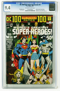 DC 100-Page Super Spectacular #6 (DC, 1971) CGC NM 9.4 Off-white to white pages. Neal Adams wraparound cover depicts eve...