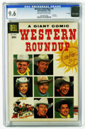 Silver Age (1956-1969):Western, Dell Giant Comics Western Roundup #15 File Copy (Dell, 1956) CGCNM+ 9.6 Off-white to white pages. Photo cover. Overstreet 2...