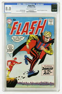 The Flash #113 (DC, 1960) CGC VF 8.0 Cream to off-white pages. Origin and first appearance of the Trickster. Carmine Inf...
