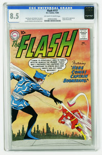 The Flash #117 (DC, 1960) CGC VF+ 8.5 Off-white to white pages. Origin and first appearance of Captain Boomerang. Carmin...