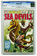 Silver Age (1956-1969):Adventure, Showcase #29 Sea Devils (DC, 1960) CGC FN+ 6.5 Off-white to white pages . Featuring the Sea Devils. Contains a half page ad ...