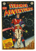 Golden Age (1938-1955):Science Fiction, Strange Adventures #9 (DC, 1951) Condition: VG. Origin and first appearance of Captain Comet. Carmine Infantino cover. Infan...