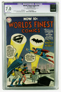 Golden Age (1938-1955):Superhero, World's Finest Comics #74 (DC, 1955) CGC Apparent FN/VF 7.0 Slight (A) Off-white to white pages. Curt Swan and Ray Burnley c...
