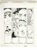 Original Comic Art:Sketches, Paul Coker Jr. - Mad #262 Illustration Original Art, Group of 2 (EC, 1986). Paul Coker Jr. demonstrates his talent for caric... (Total: 2 Items)